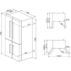 Холодильник Side-by-Side SMEG FQ60B2PE1