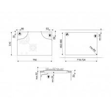 Варочная панель SMEG PM3743D