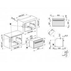 Духовой шкаф SMEG SF4604WMCNX