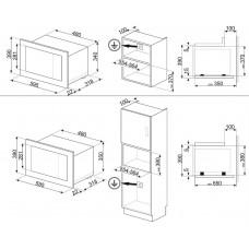 Микроволновая печь SMEG FMI120B2
