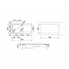 Мойка SMEG LDR102-2