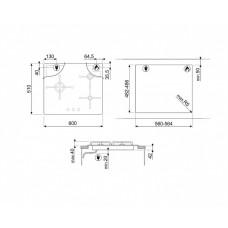 Варочная панель SMEG PV163B2