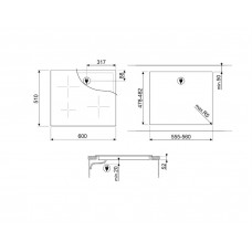 Варочная панель SMEG SI2641DP