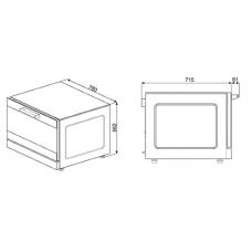 Конвекционная печь SMEG ALFA144XE1