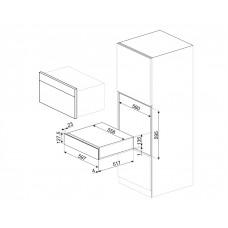 Выдвижной ящик SMEG CP615NX