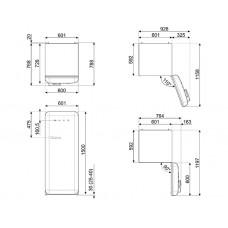 Холодильник SMEG FAB28RDMC3