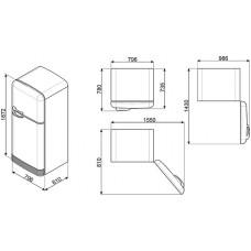 Холодильник SMEG FAB50LSV