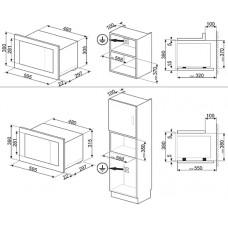 Микроволновая печь SMEG FMI120S1