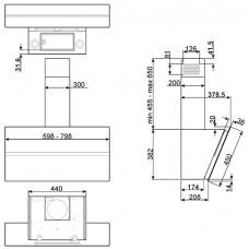 Вытяжка SMEG KCV80BE2