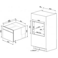 Шкаф скоростного охлаждения SMEG SAB4604NR