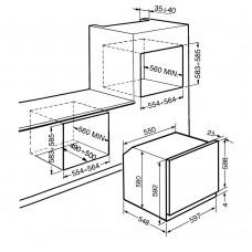 Духовой шкаф SMEG SF6341GX