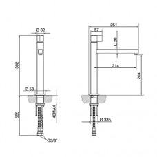 Смеситель SMEG ML19-IS