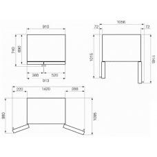 Холодильник Side-by-Side SMEG SBS963P